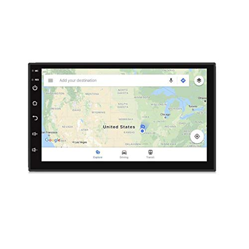 GPS para coche GPS Navegación Estéreo Doble Din Car Radio Android, 7 pulgadas Android estéreo del coche con la radio de la navegación del coche Soporte Android Auto WiFi / Fast Boot / reserva de la cá