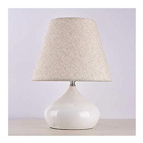 ZWL Nordic Schlafzimmer Led Tischlampe Weißes Tuch Led Tischlampe Dekoration Tischlampe