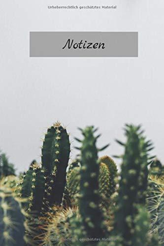 Kaktus Notizbuch: Tagebuch / Notizbuch / Journal mit Linien & Kaktus Bild als Motiv - 120 Seiten Taschenbuchgröße