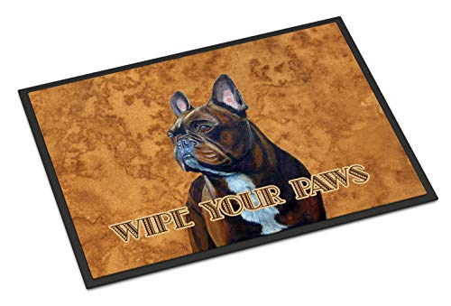 Caroline's Treasures LH9455MAT French Bulldog Wipe Your Paws Indoor or Outdoor Mat 18x27, 18H X 27W, Multicolor