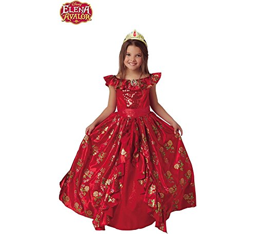 Disney - Disfraz de Elena de Avalor Premium para niña, infantil 3-4 años (Rubie