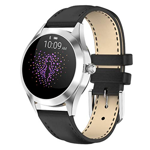 LTLJX Smartwatch Damen,1.04 Zoll Touch-Farbdisplay Fitness Armbanduhr mit Pulsuhr Fitness Tracker IP68 Wasserdicht Sportuhr Smart Watch mit Schrittzähler,Schlafmonitor,Stoppuhr,Weiß