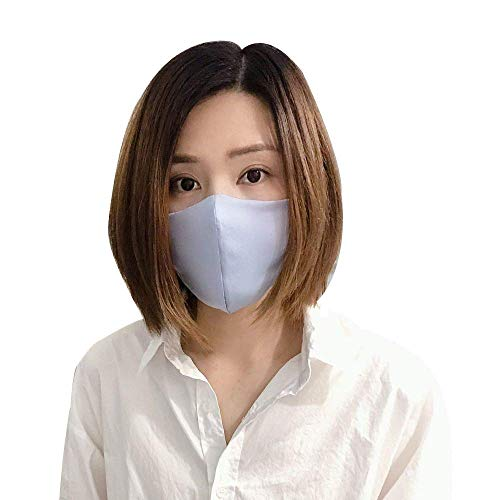 ROSEWARD US Stock 100% Mulberry Silk Breathable Hypoallergenic Summer Cooling Face Mouth Protection with Filter Pocket Washable Reusable, Pack of Two
