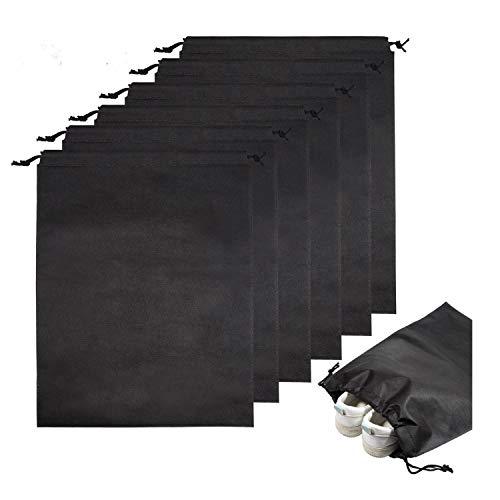 Wolintek 10 Pezzi Borsa di Scarpe da Sacchetto Multiuso Borse con Impermeabili per Antipolvere,Evitare umidita,Nero