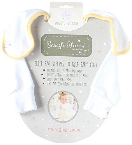 Snuggle Coque arrière rigide manches Sacs de couchage (0–3 mois, jaune)