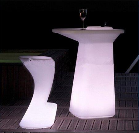 Gowe Mode lumineux LED murale Table pour station de café/fête/hôtel/bar Creative Lighted à table basse batterie