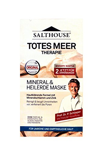 Salth Ouse Totes Meer Therapie Mineral & Heilerde Maske, (2 x 7 ml) 15er Pack