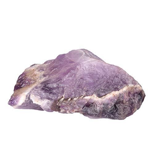 Real Gems Cristal de Amatista en Bruto, Piedra Preciosa curativa de Amatista Natural cruda, Amatista Violeta certificada 364.50 CT de Piedras Preciosas Sueltas para decoración