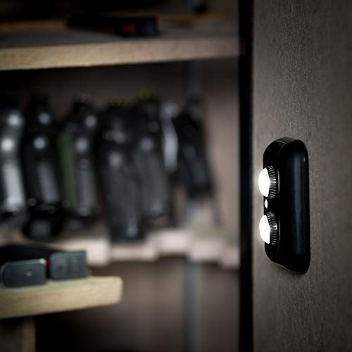 Gun Safe Light with PIR Motion Sensor Light Activation - One Unit with Two Adjustable and Rotatable LED Lens for Directional Lighting Inside Your Safe