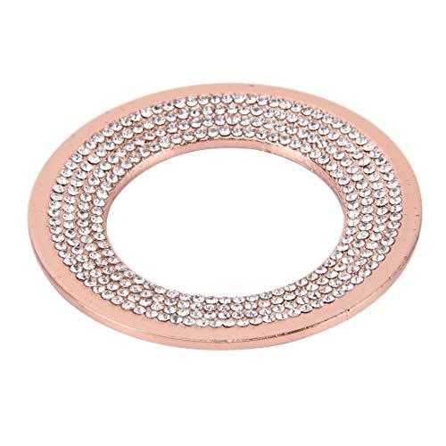Radiancy Inc Auto Decoratie Ring Mode Auto Aluminium Stuurwiel Decoratie Ring met Diamanten, Geschikt voor Volkswagen roze