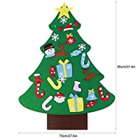 Wosume Ornamenti Natalizi, Tessuto in Feltro di qualità Albero di Natale in Feltro, abilità motorie Fini Albero di Natale Fai-da-Te Coordinazione Occhio-Mano 27 Pezzi Ornamenti per Soggiorno di #3