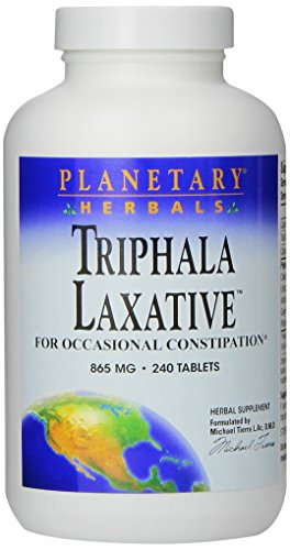 Planetary Herbals Triphala Laxative Tablets, 240 Count