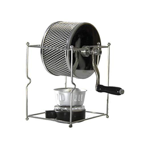 ACEOLT Edelstahl Home Manual Handlicher Kaffeebohnenröster und Nussröster, Ofenkorb Ofenbraten Backrotary für erdnussgetrocknete Nusskaffeebohnen
