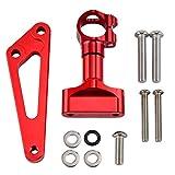 NVFED Motocicleta CNC Dirección del Amortiguador Kit de Montaje Estabilizador Ajustable Ajustable Adecuado para la mayoría de los Modelos de Motocicletas (Color : Red)