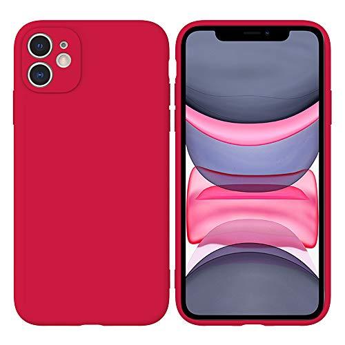 LARPOTE Funda iPhone 11, Case para móvil en TPU Silicona Ultradelgado Anti-Choque para Apple iPhone 11 - Gran Rojo