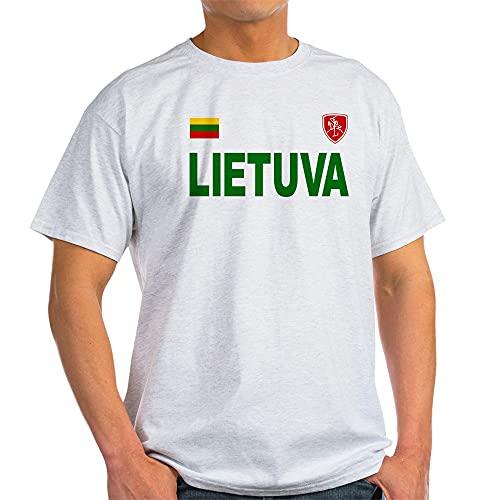 CafePress Lietuva Olympic Style Light T Shirt 100% Cotton T-Shirt Ash Grey