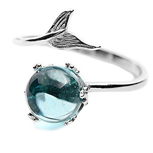Helen de Lete Mermaid In Deep Ocean 925 Sterling Silver Open Ring