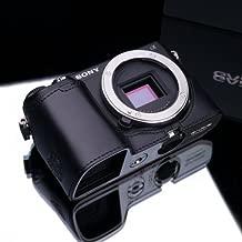 Gariz Genuine Leather XS-CHNEX6BK Camera Metal Half Case for Sony NEX6 NEX-6, Black