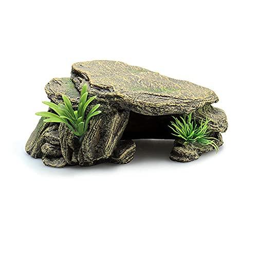Cocooneo Hábitat de ocultación Reptiles Tortuga terraza Lagarto Peces y camarones escondite Agujero simulación paisajismo decoración-1