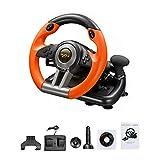 gaeruite Driving Force Racing Roue et pédales, Jeu d'Appui PC / PS3 / PS4 / X-One, Simulation de Volant pour Conduite Automobile
