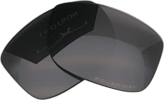 LOTSON Replacement for Stealth Black Polarized UV400 Lenses Oakley Jupiter Carbon Sunglasses