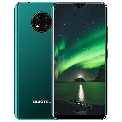Oukitel C19 Smartphone,Cellulari Offerte,Telefono cellulare Android 10.0 4G,6.49inch Goccia D'acqua Schermo,Batteria 4000mAh,Tripla fotocamera 13MP,2 GB+16 GB 256GB Espandibili,Dual SIM,verde
