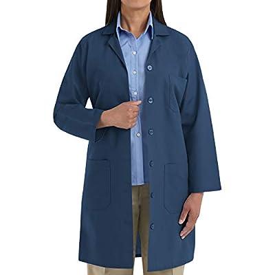 Red Kap Women's Lab Coat, Navy, Large