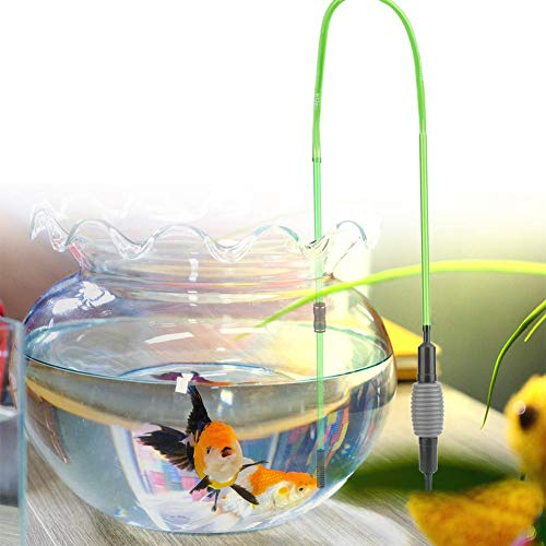 Pssopp Handmatige Siphon Water Changer Fish Tank Aquarium Grind Cleaner Aquarium Stofzuiger Grind Cleaner Fish Tank Cleaner Washer Siphon Water Changer met Beschermende Net Cover, C600
