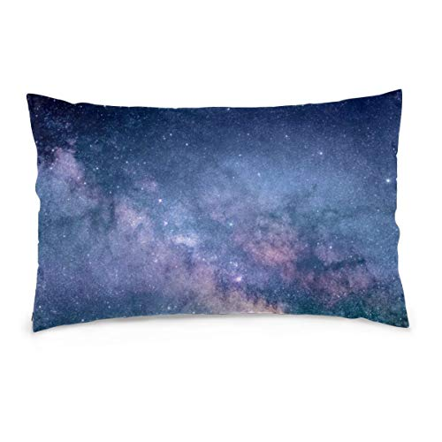 XIEXING Pillow Case Glittering Galaxy1 Printed Pillow Cases Soft Chair Seat Bedding Pillowcase Coffee Shop Home Decor 20'' X30