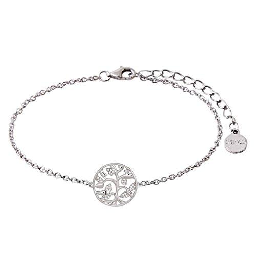XENOX XS2943 Damen Armband Lebensbaum Sterling-Silber 925 Silber Weiß Zirkonia 18,5 cm