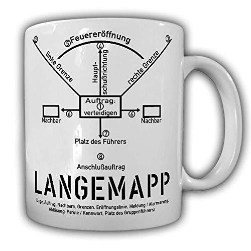 Tasse LANGEMAPP Bundeswehr Alarmposten AGA Grundausbildung BIWAK BW #24820