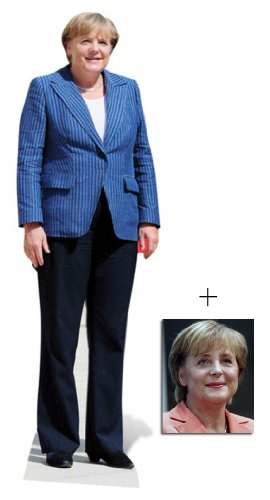 BundleZ-4-FanZ Fan Packs Angela Merkel Lebensgrosse Pappfiguren/Stehplatzinhaber / Aufsteller - Enthält 8X10 (25X20Cm) starfoto