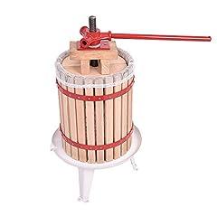 HENGMEI 18L Presse à fruits Presse à jus Presse à baies Presse à vin avec réseau de presse Presse mécanique (18L)