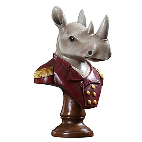 Cabeza De Rinoceronte General Decoración Del Hogar Decoraciones Sala De Estar Gabinete Del Vino Tv Gabinete Artesanías Pequeños Adornos Rinocerontes Animales Ventiladores Colección Adornos Estatua