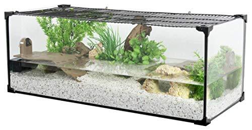 Zolux Aquarium Tortue-AQUATERRARIUM pour Tortue d'eau 100 CM