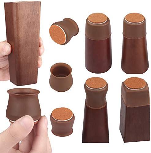 Silicone Chair Leg Caps 32 Pcs Chair Leg Protectors for Hardwood Floors Chair Leg Floor ProtectorsWith product image