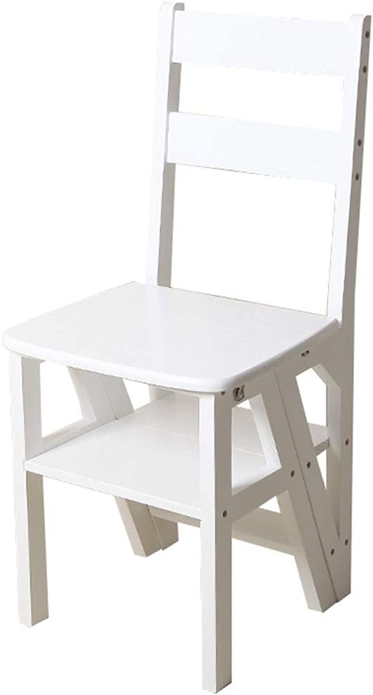 Venta al por mayor barato y de alta calidad. Taburete plegable de madera Escalera plegable plegable plegable de madera maciza para el hogar - Escalera móvil para escalar de interior - Taburete para escalera Escalera para subir escalón ( Talla   4 wide steps )  tienda de descuento