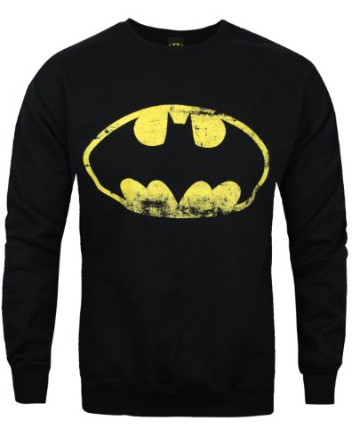 Batman Distressed Logo Men's Sweater