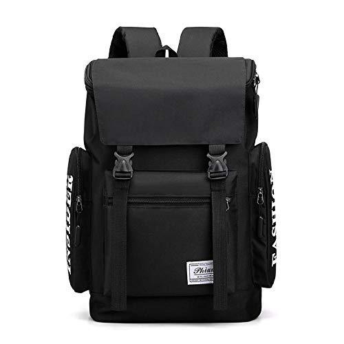 Men s Business Backpacks Burden Reduction Design 15.6 Inch Laptop Bag Light Nylon Backpack for School Teenagers-Black