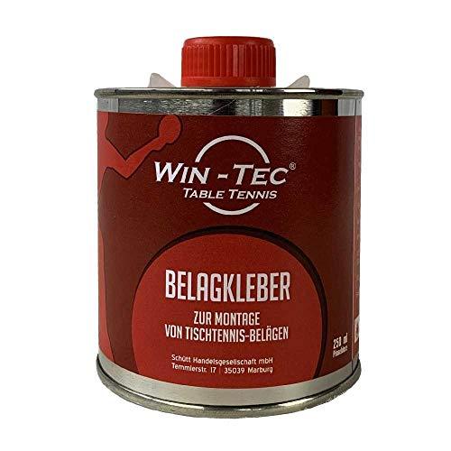 WIN-TEC Belagkleber Pinseldose (250 ml) - Kleber für Tischtennis Beläge | Lösungsmittelhaltig | TT-Spezial - Schütt Tischtennis