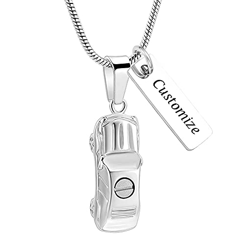 Cremation Jewelry for Ashes Little Car Shape Urn Pendants for Ashes Holder Memorial Keepsake Urn Necklace Cool Necklace