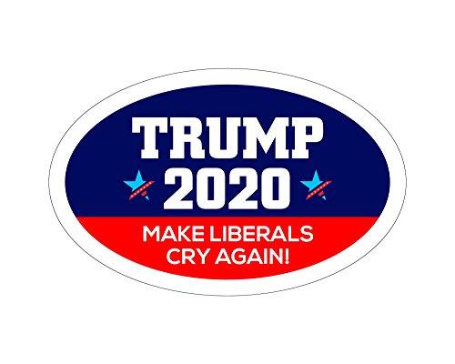 StickerPirate Oval Car Magnet Trump 2020 Trump Make Liberals Cry Again TO439