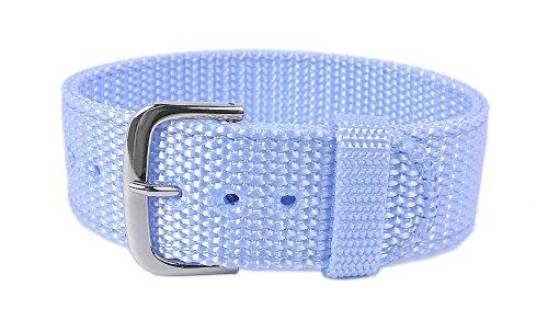 Correa para Reloj de Pulsera para Mujer Casio Baby-G BG-153B, 20 mm, Textil, Color Azul