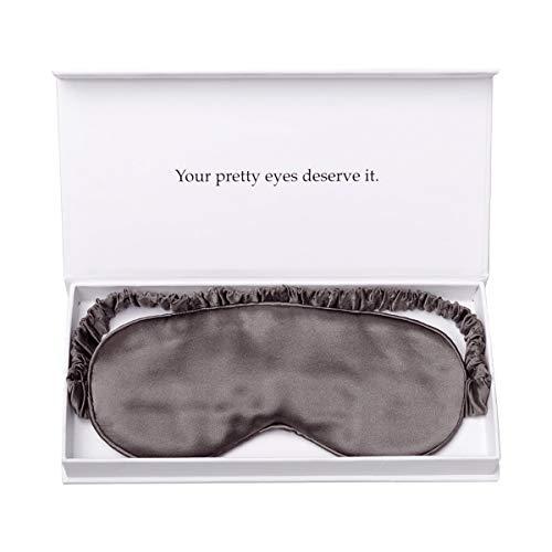 Preisvergleich Produktbild Augenmaske - Schlafmaske - Ultraweich,  bequem - Nasenpolster - Lichtblockierender Augenblinder - Voll verstellbarer Gurt - Hautfreundlich Ideal für die Arbeit im Schlaf zu Hause (Grau)