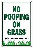 草犬、猫、飼い主、動物の庭のプロパティにうんちはありません メタルポスタレトロなポスタ安全標識壁パネル ティンサイン注意看板壁掛けプレート警告サイン絵図ショップ食料品ショッピングモールパーキングバークラブカフェレストラントイレ公共の場ギフト