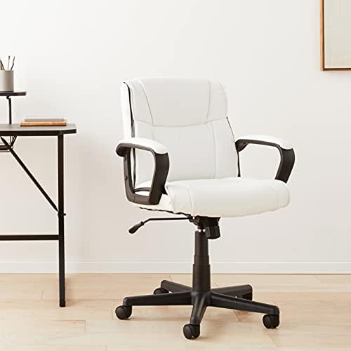 Amazon Basics Ergonomic Office Desk Chair with Armrests, Adjustable Height/Tilt, 360-Degree Swivel,...