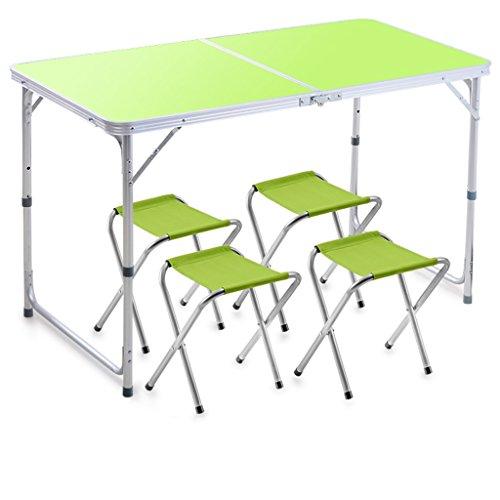 Peaceip Table pliante solide Stall extérieur tables pliantes et chaises Dinette domestique Portable en alliage d'aluminium Petite table pliante table pliante, cuisine et table à manger, bureau, enfant