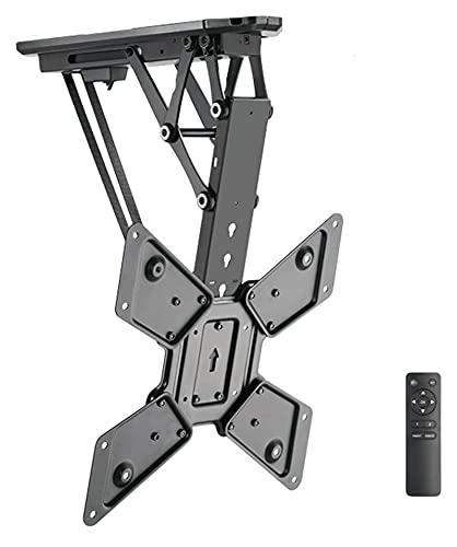 TabloKanvas Control Remoto eléctrico TELEVISOR Perching Techo Elegante Elegante TELEVISOR Stand se Adapta a la mayoría de los televisores curvos de Pantalla Plana de 32 a 55 Pulgadas (Color : Black)