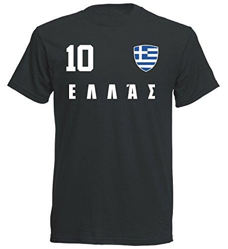 aprom - Griechenland Kinder T-Shirt Trikot ALL-10 SC - WM 2018 Fußball (140)