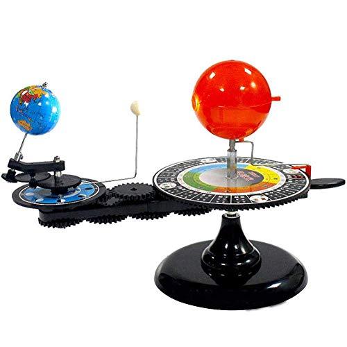 Wghz Modelo de planetario Orbital de Sol, Tierra y Luna con luz, Modelo de Sistema Solar para nios, Kits educativos de Ciencia astronmica, demostracin de astronoma de Ciencia